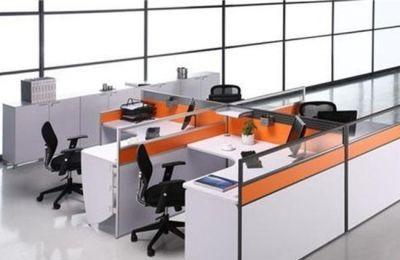 带办公桌隔断有哪些优势?_办公桌隔断